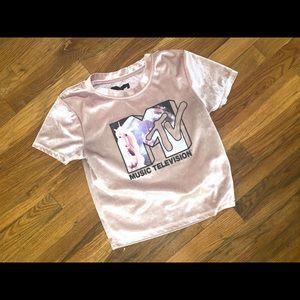 Forever 21 pink velvet MTV shirt 😍